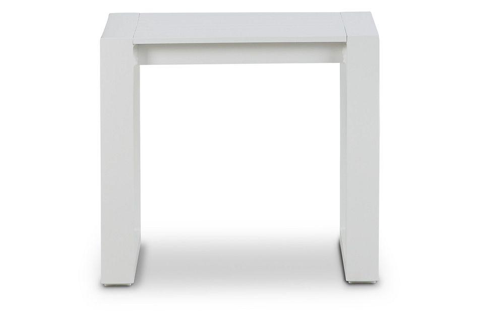 Linear White Aluminum End Table