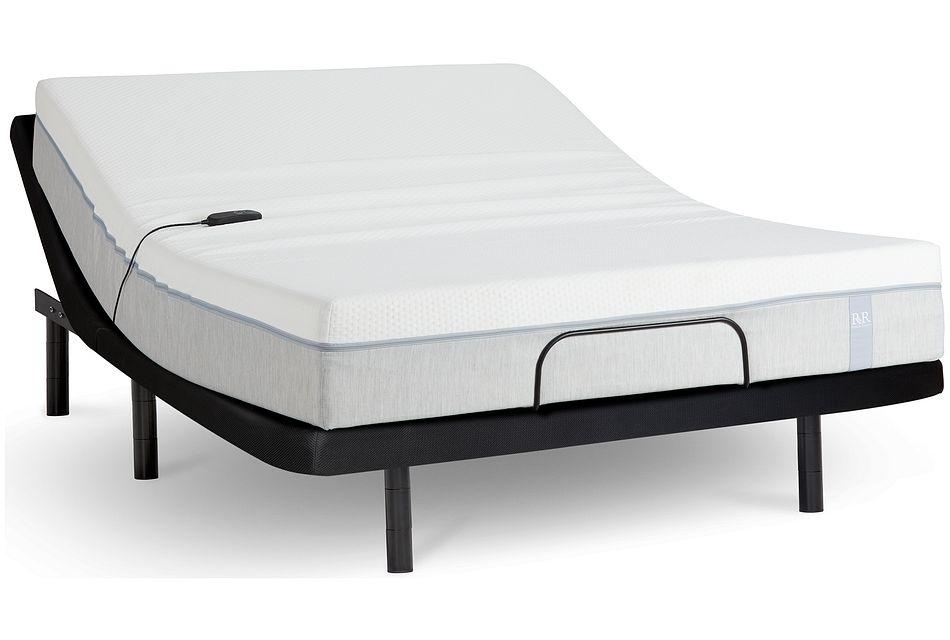 "Rest & Renew Memory Foam 10"" Silver Adjustable Mattress Set"