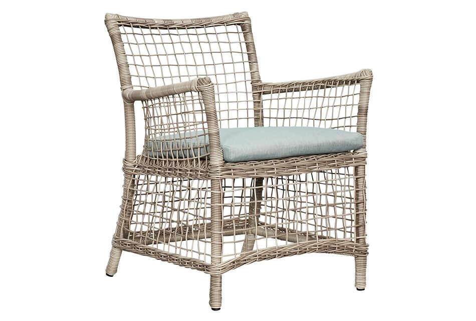 Raleigh Teal Woven Arm Chair
