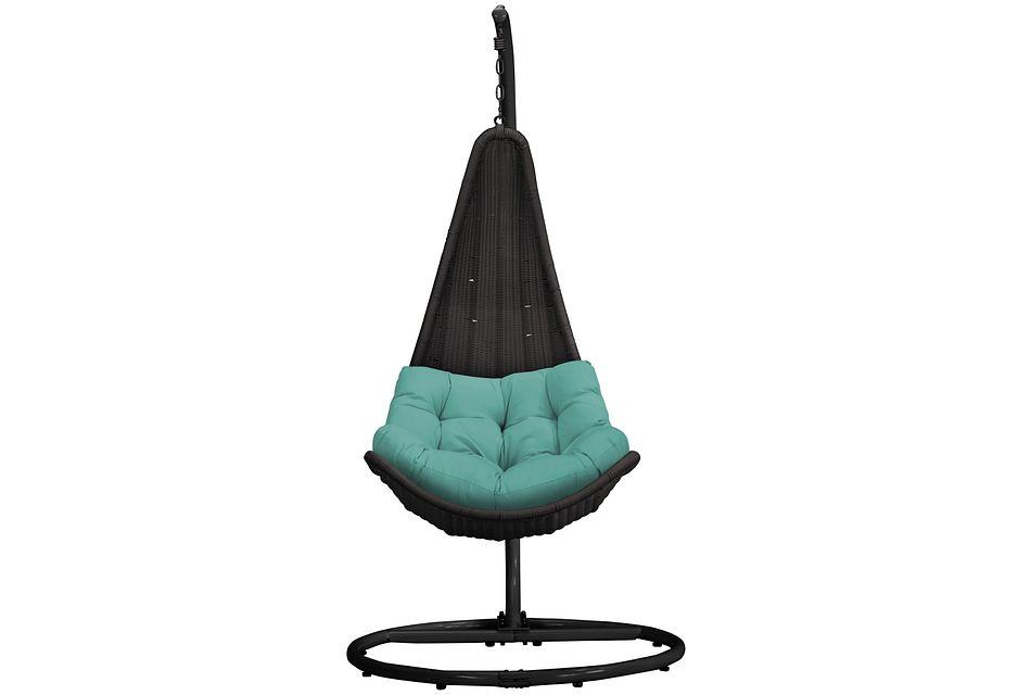 Zen Dark Teal   Hanging Chair,  (1)