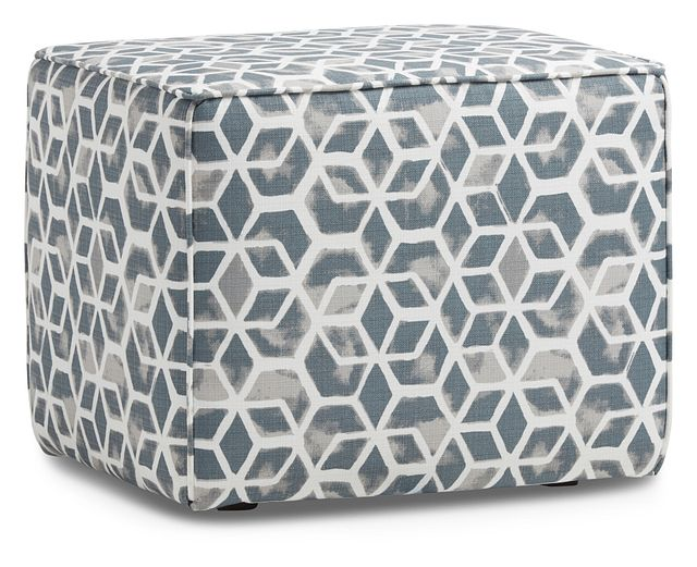 Celtic Gray Geometric Indoor/outdoor Accent Ottoman (1)