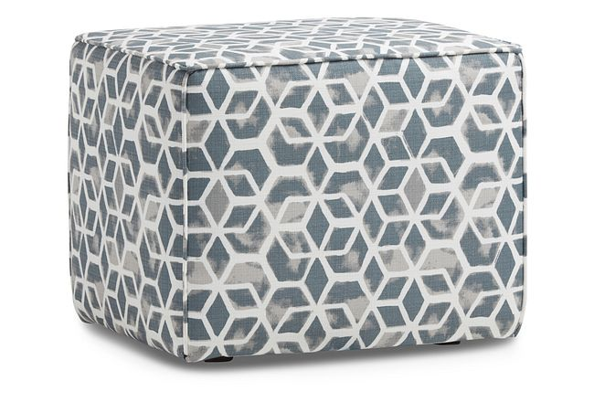 Celtic Gray Geometric Indoor/outdoor Accent Ottoman