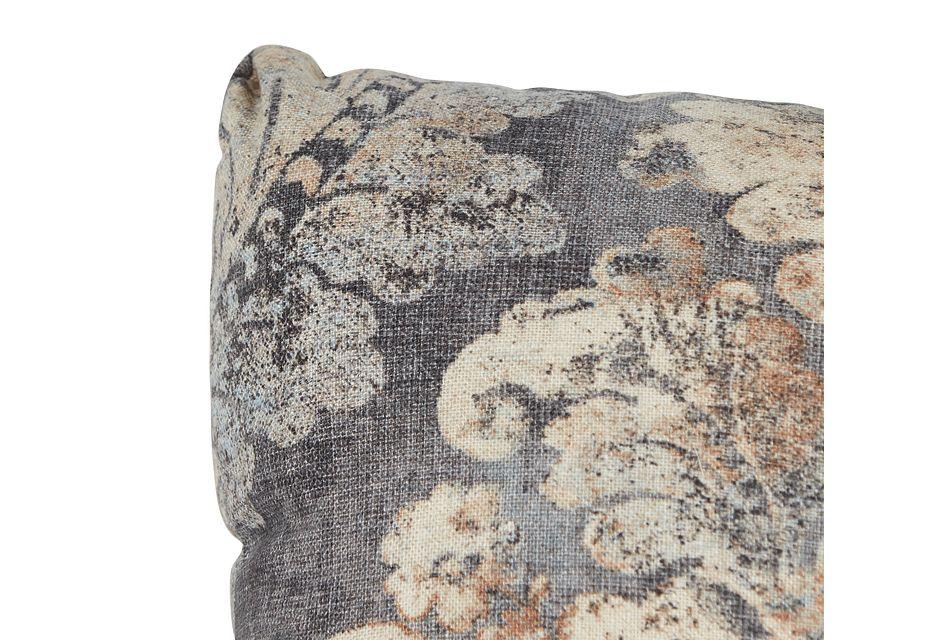 Firenza Gray Lumbar Accent Pillow,  (1)