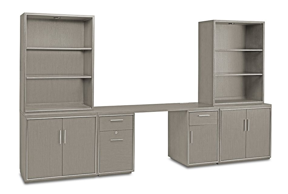 Highline Gray Door Wall Desk
