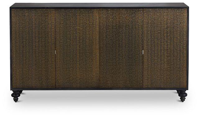 Makari Metal Four-door Cabinet (1)