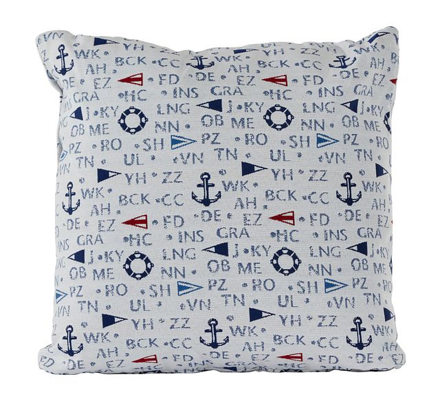 """Captain Dark Blue 18"""" Indoor/outdoor Accent Pillow (0)"""