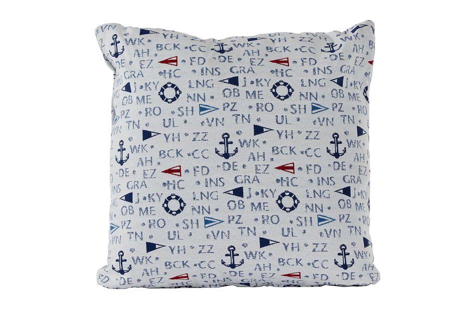 """Captain Dark Blue 18"""" Indoor/outdoor Accent Pillow"""