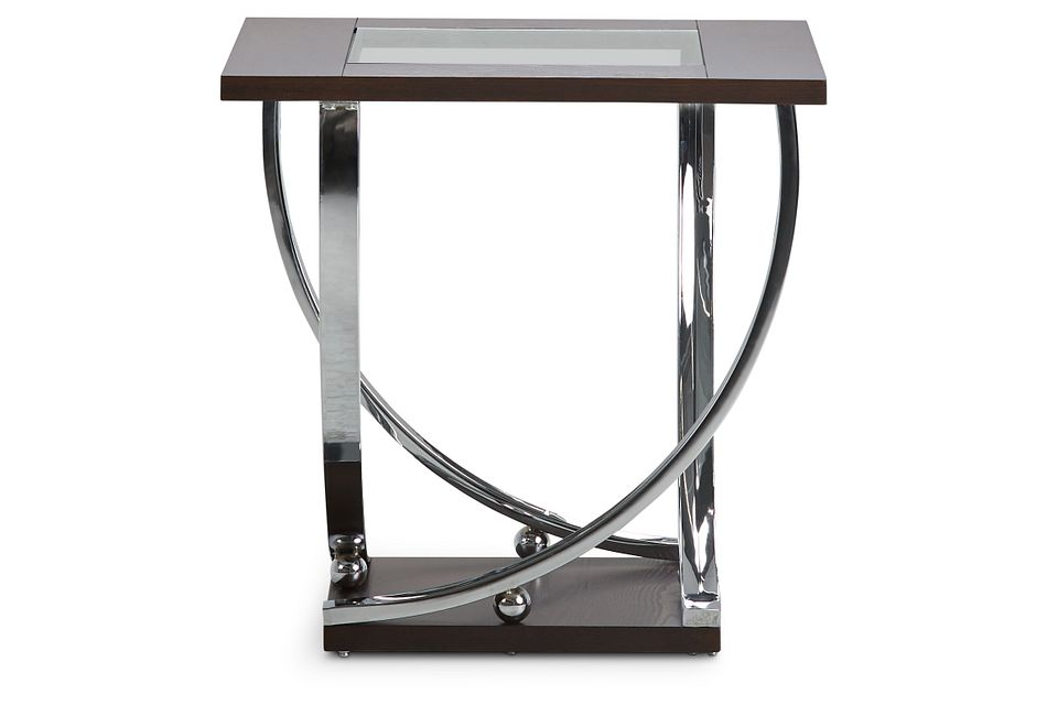 Tabitha Dark Tone Glass End Table