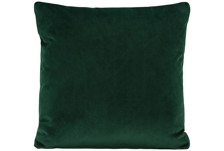 Royale Dark Green  Fabric Square Accent Pillow,  (0)
