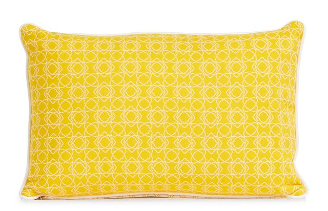 """Valley Yellow 13"""" Indoor/outdoor Rectangular Accent Pillow (1)"""