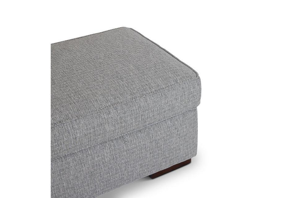 Austin Gray Fabric Ottoman