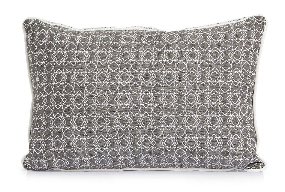 """Valley Gray 13"""" Indoor/outdoor Rectangular Accent Pillow"""