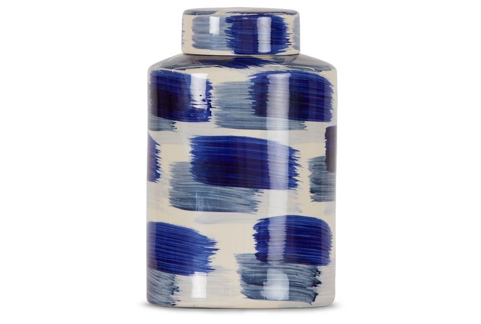 Alula Large Dk Blue Jar,  (1)