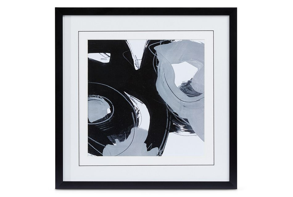 Twirl Black Framed Wall Art
