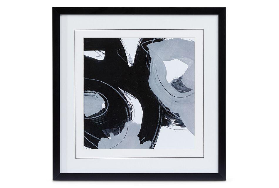 Twirl Black Framed Wall Art