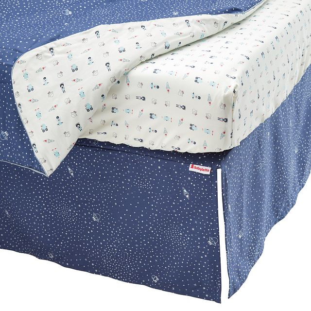 Galaxy Dark Blue 5 Piece Crib Bedding Set (3)
