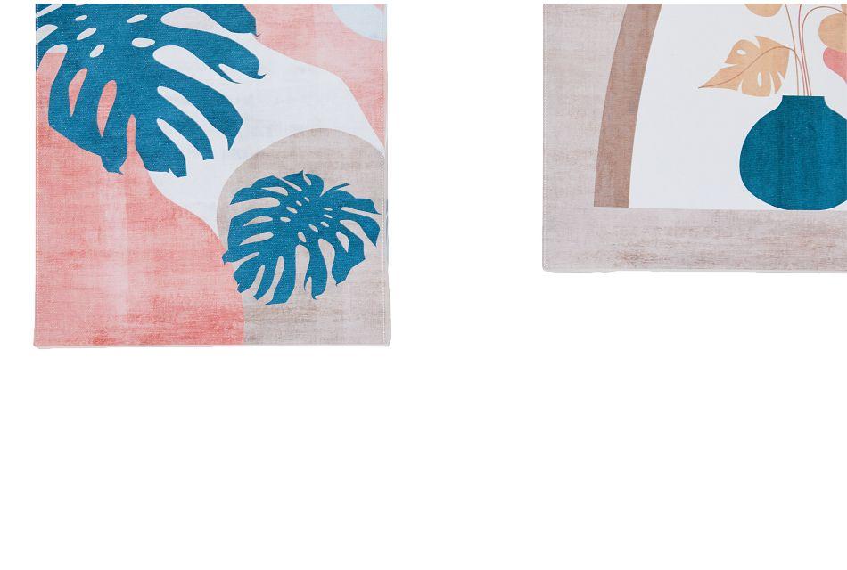 Sunnie Orange Set Of 5 Canvas Wall Art,  (3)