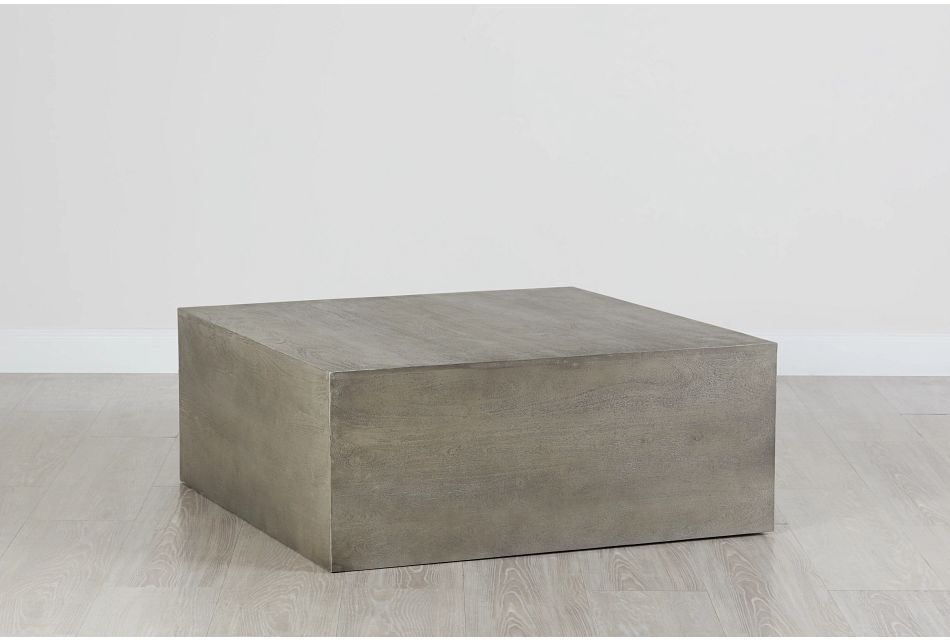 Ray Light Tone Square Coffee Table