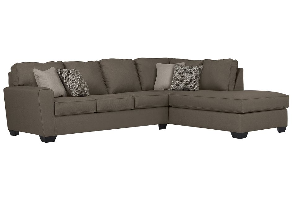 Calicho Dark Taupe Micro Right Chaise Sectional