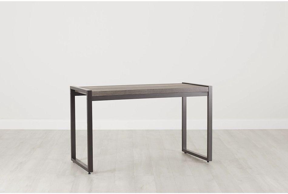 Milton Gray Writing Desk, %%bed_Size%% (0)