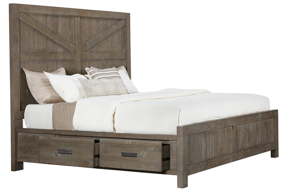 Taryn Gray 4-drawer Panel Storage Bed