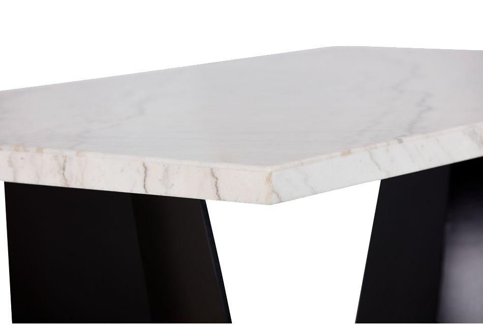 Auburn White Marble Rectangular Table