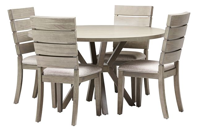 Sienna Gray Round Table & 4 Slat Chairs (0)