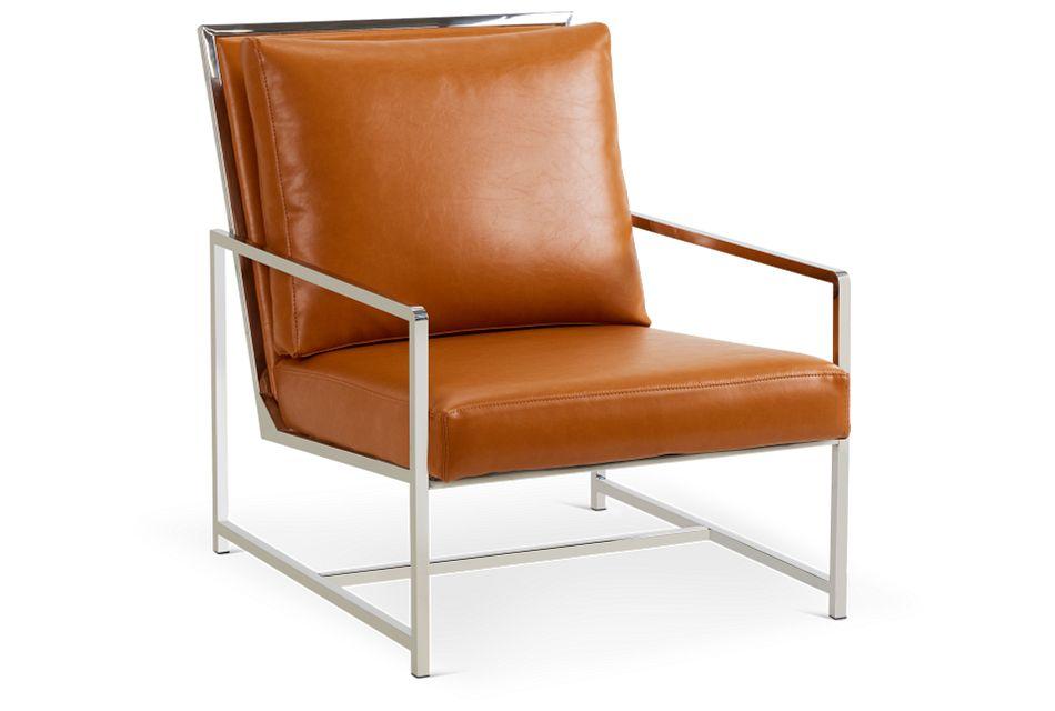 Harvey Medium Brown Uph Accent Chair,  (1)