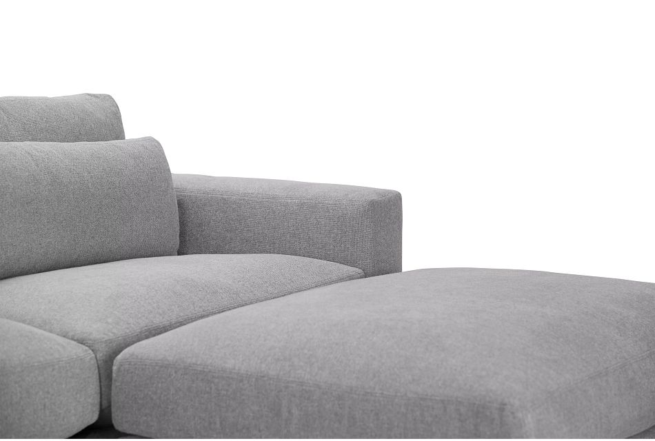 Cozumel Light Gray Fabric 7-piece Chaise Sectional