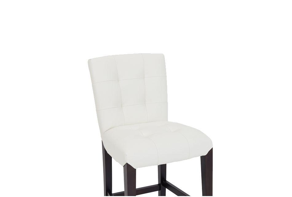 """Shelby Whitemicro 24"""" Upholstered Barstool"""