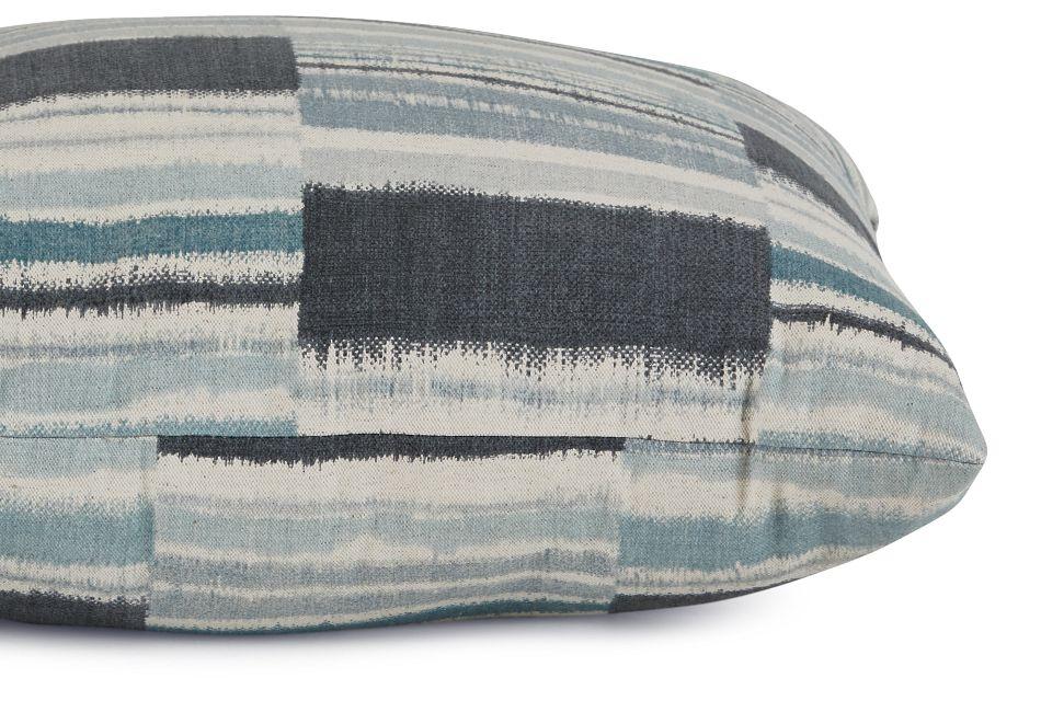"""Seydou Dark Blue Fabric 20"""" Accent Pillow,  (2)"""