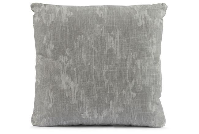 "Bandula Light Gray 18"" Square Accent Pillow"