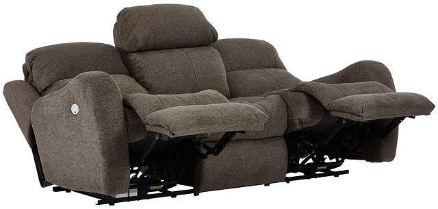Finn Brown Fabric Power Reclining Sofa (3)