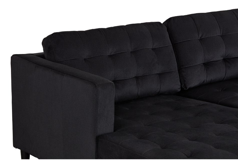 Shae Dark Gray Micro Left Chaise Sectional