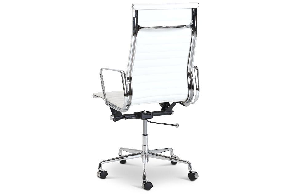 Amos White Desk Chair