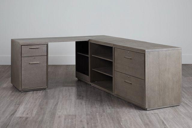 Highline Gray L Desk (0)