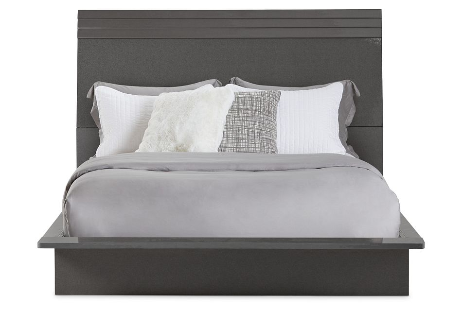 Midtown Gray Wood Platform Bed