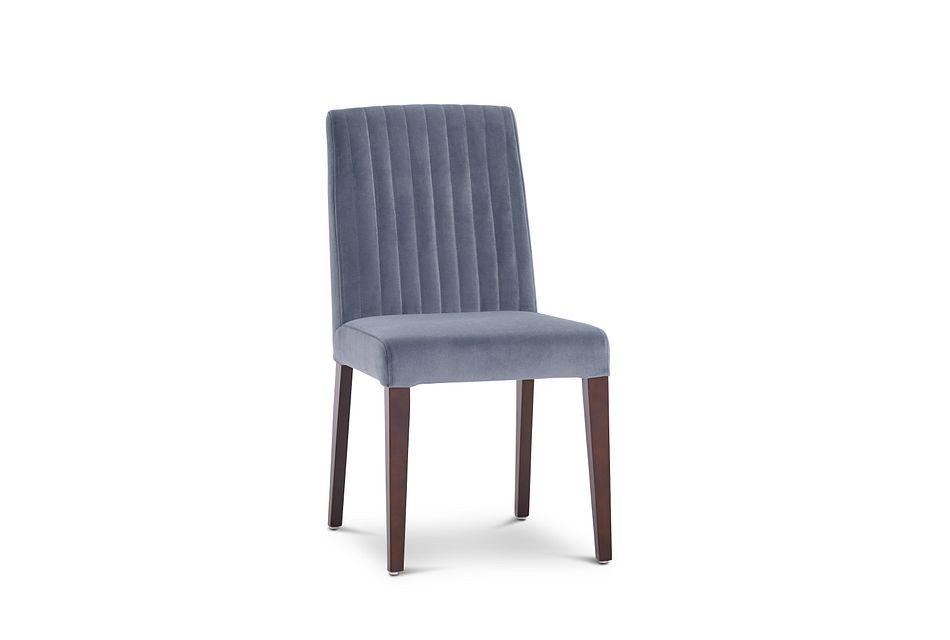 Fraser Light Gray Velvet Upholstered Side Chair