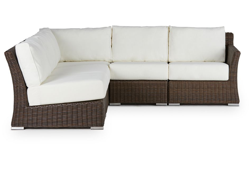 Southport White Right 5-piece Modular Sectional