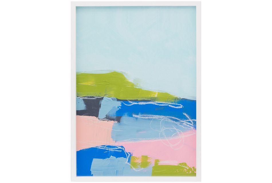 Marella2 Blue Framed Wall Art
