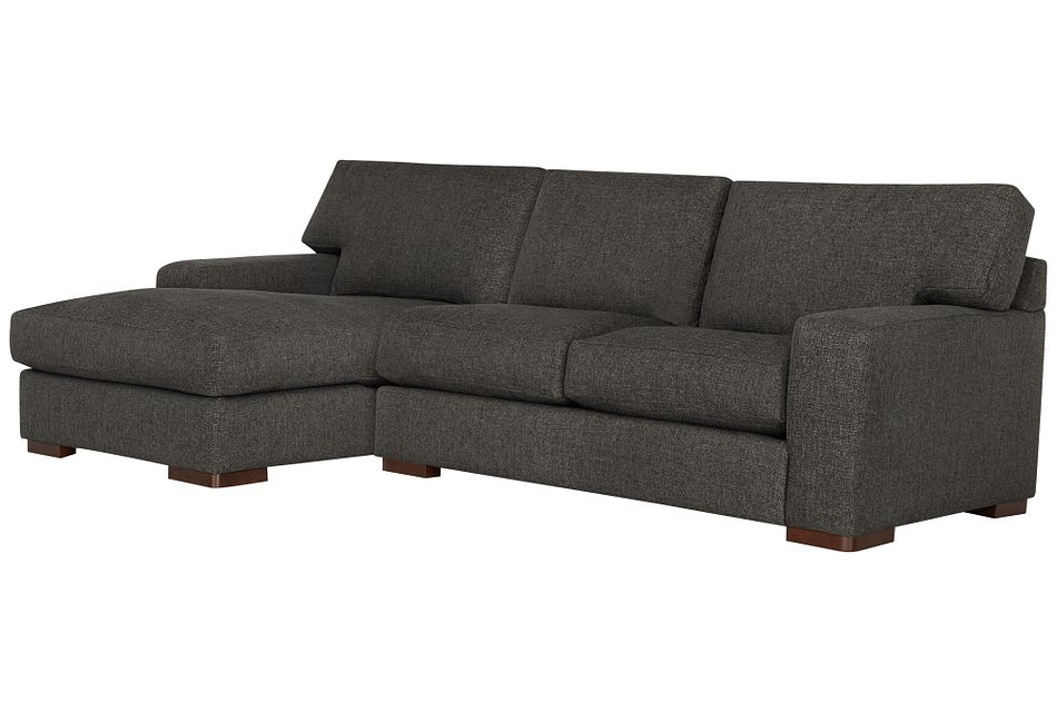 Veronica Dark Brown  DOWN Left Chaise Sectional,  (0)