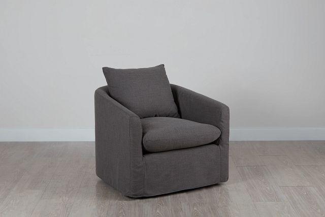 Willow Gray Fabric Swivel Chair (0)
