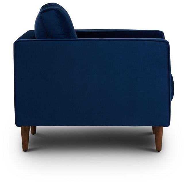 Luna Dark Blue Velvet Chair (2)