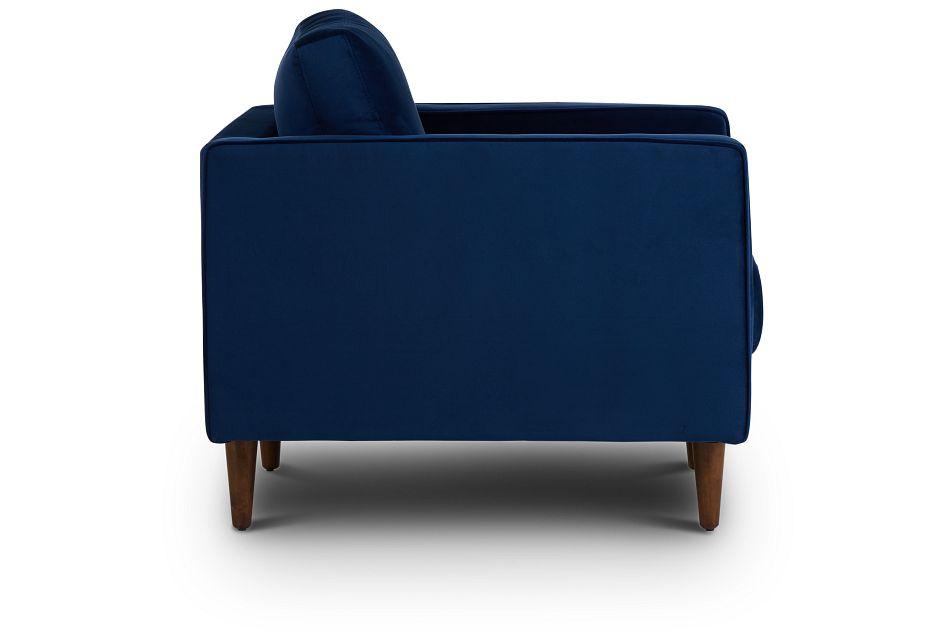 Luna Dark Blue Velvet Chair,  (2)