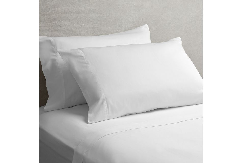 Cotton Sateen White 300 Thread Sheet Set