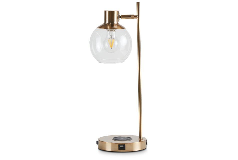 Lila Gold Metal Desk Lamp,  (1)