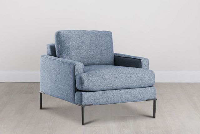 Morgan Blue Fabric Chair With Metal Legs (0)