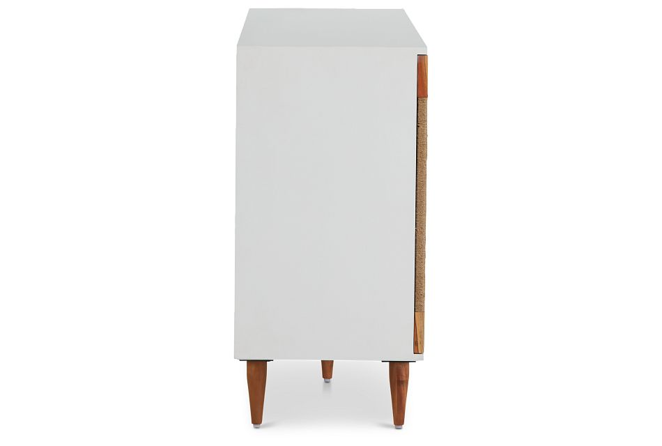 Woven Two-Tone Four-Door Cabinet,  (3)