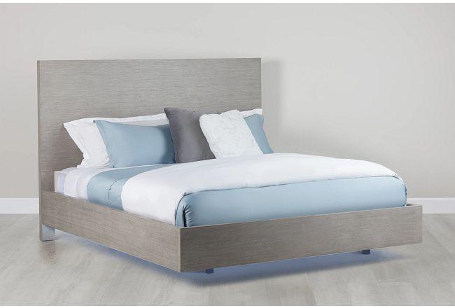 Rio Light Tone Panel Bed