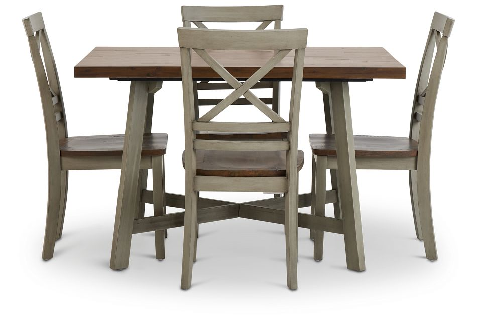 Fairhaven Gray Rect Table & 4 Chairs